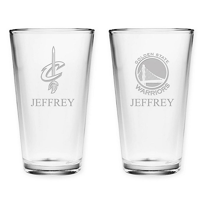 Alternate image 1 for NBA Deep Etch Pint Glass Collection
