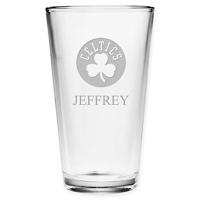 Alternate image 1 for NBA Boston Celtics Deep Etch Pint Glass