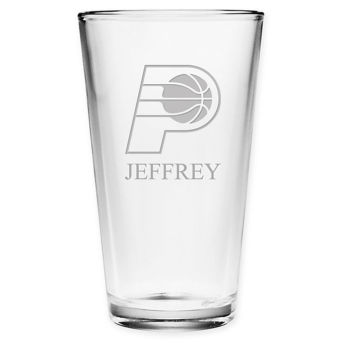 Alternate image 1 for NBA Indiana Pacers Deep Etch Pint Glass