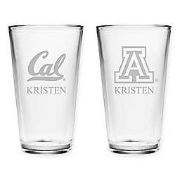 Collegiate Deep Etch Pint Glass