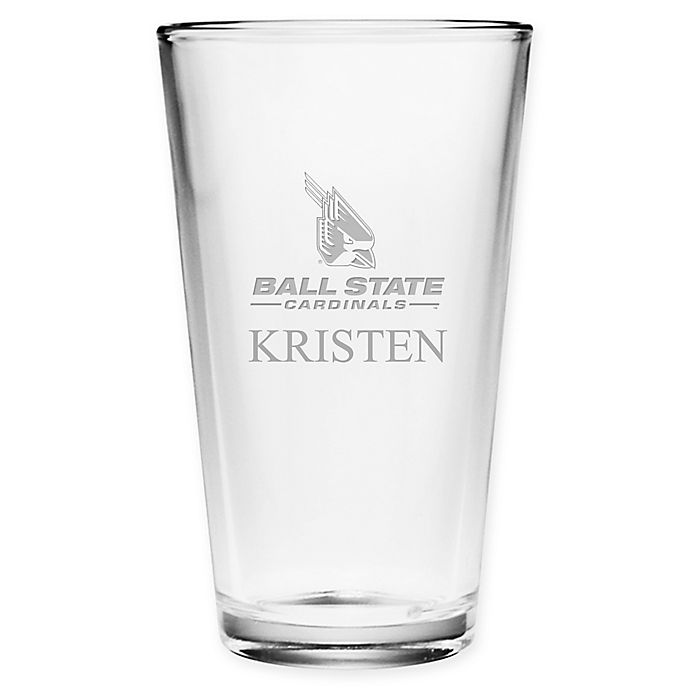 Alternate image 1 for Ball State University Deep Etch Pint Glass