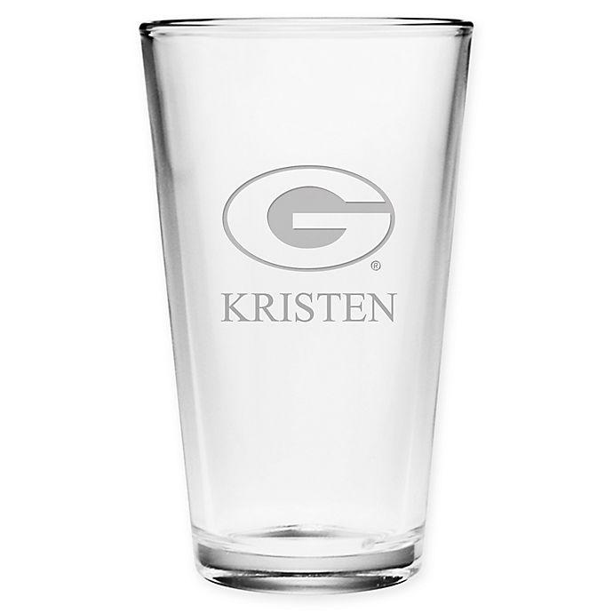 Alternate image 1 for University of Georgia Deep Etch Pint Glass