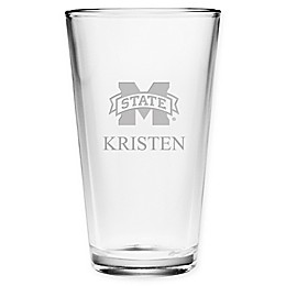 Mississippi State University Deep Etch Pint Glass