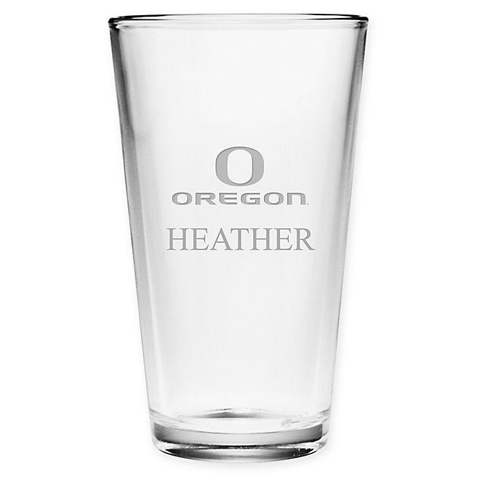 Alternate image 1 for University of Oregon Deep Etch Pint Glass