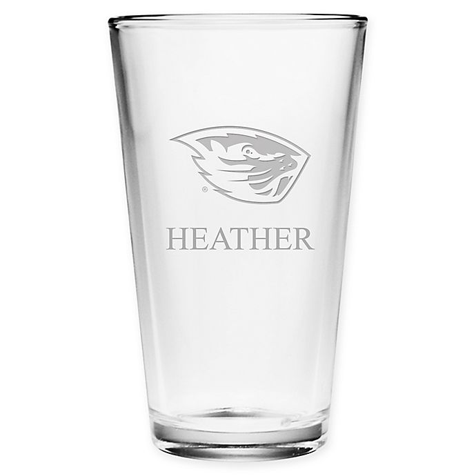 Alternate image 1 for Oregon State University Deep Etch Pint Glass