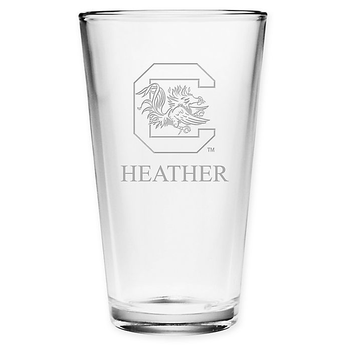 Alternate image 1 for University of South Carolina Deep Etch Pint Glass