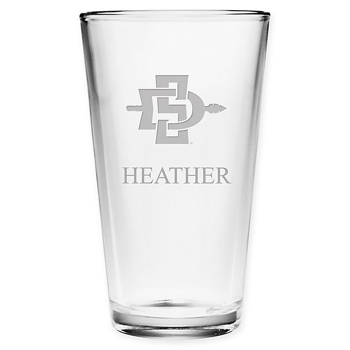 Alternate image 1 for San Diego State University Deep Etch Pint Glass
