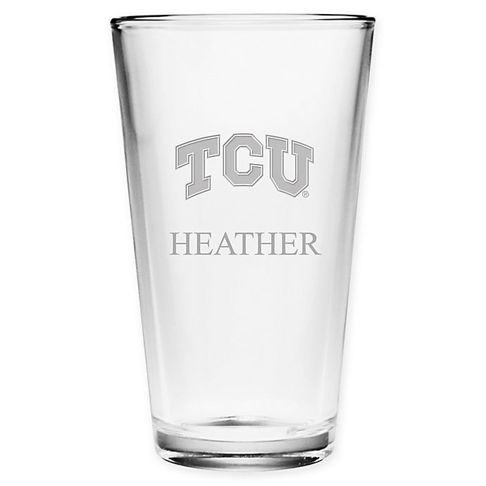 Alternate image 1 for Texas Christian University Deep Etch Pint Glass