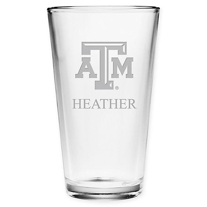 Alternate image 1 for Texas A&M University Deep Etch Pint Glass