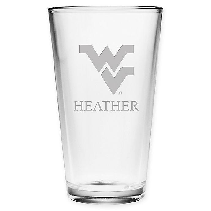 Alternate image 1 for West Virginia University Deep Etch Pint Glass