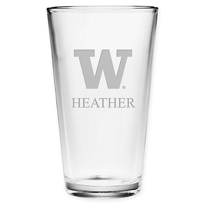 Alternate image 1 for University of Washington Deep Etch Pint Glass