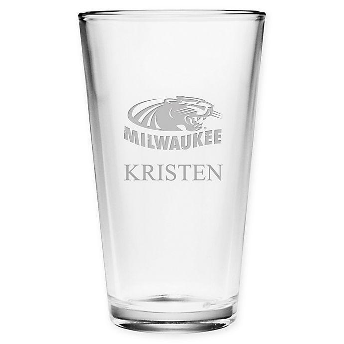 Alternate image 1 for University of Wisconsin-Milwaukee Deep Etch Pint Glass