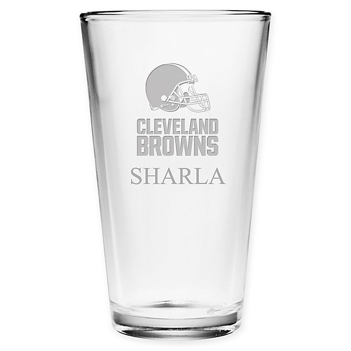 Alternate image 1 for NFL Cleveland Browns Deep Etch Pint Glass