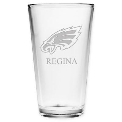 Nfl Philadelphia Eagles Deep Etch Pint Glass Bed Bath