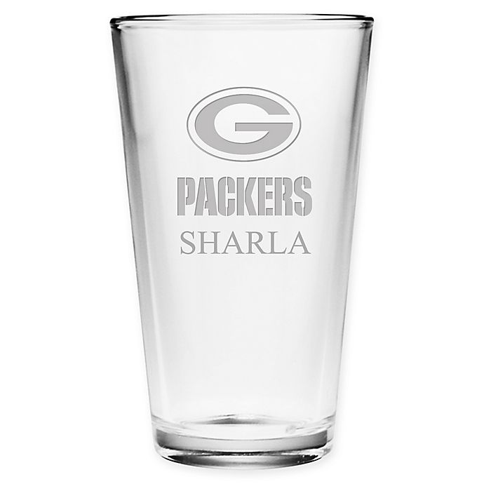 Alternate image 1 for NFL Green Bay Packers Deep Etch Pint Glass