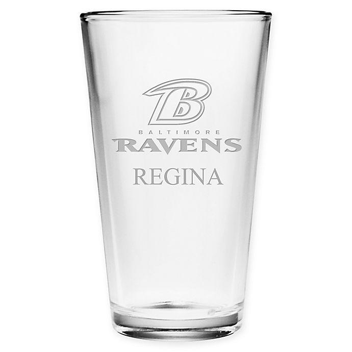 Alternate image 1 for NFL Baltimore Ravens Deep Etch Pint Glass