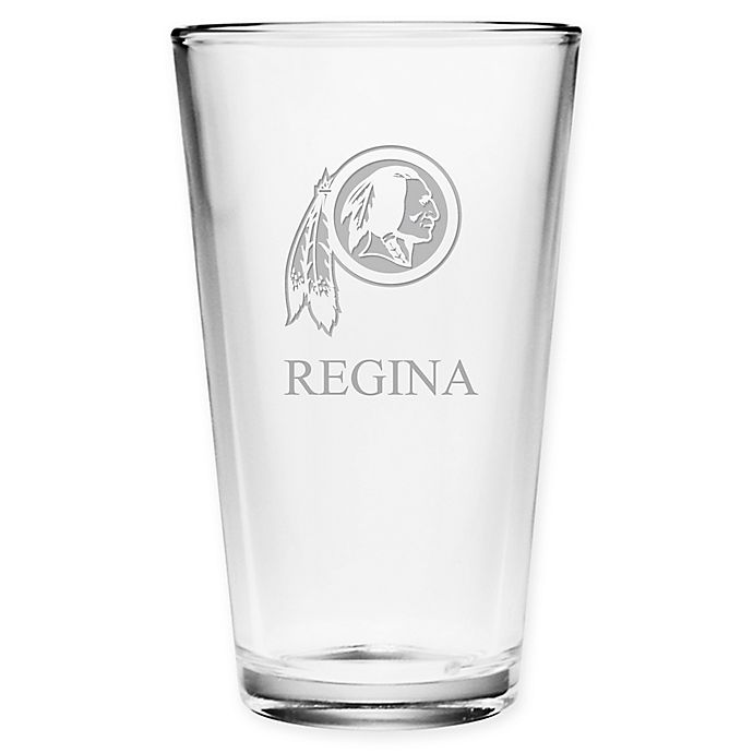 Alternate image 1 for NFL Washington Redskins Deep Etch Pint Glass