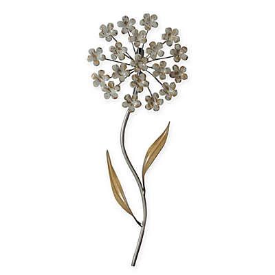Stylecraft 8 Inch X 20 Inch Metal Flower Wall Art In White