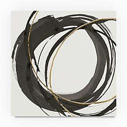 Trademark Fine Art Gilded Enso I 14-Inch Square Canvas Wall Art