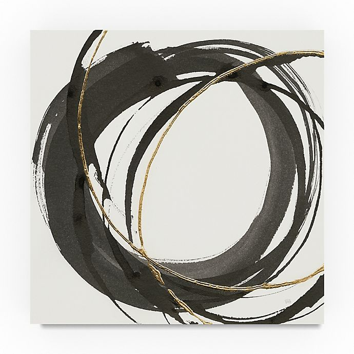 Alternate image 1 for Trademark Fine Art Gilded Enso I 35-Inch Square Canvas Wall Art
