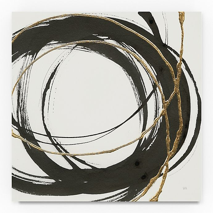 Alternate image 1 for Trademark Fine Art Gilded Enso II 14-Inch Square Canvas Wall Art