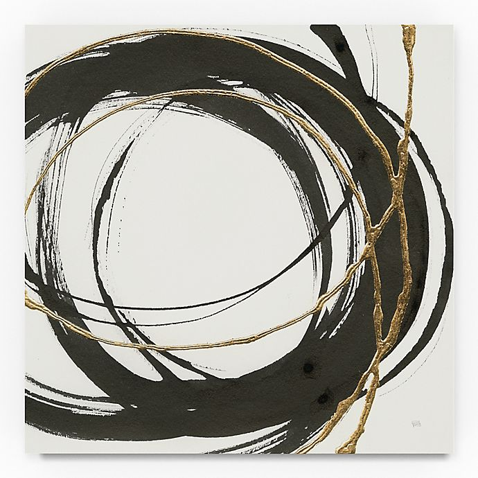 Alternate image 1 for Trademark Fine Art Gilded Enso II 24-Inch Square Canvas Wall Art