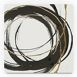 Trademark Fine Art Gilded Enso II 35-Inch Square Canvas Wall Art
