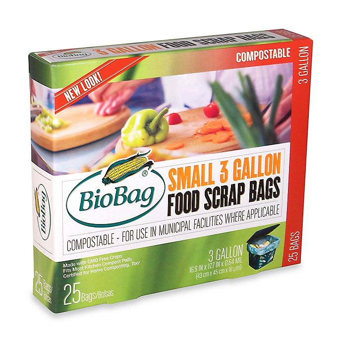 Alternate image 1 for BioBag® 25-Count 3-Gallon Food Waste Bags