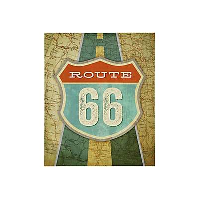 Mi Zone Route 66 20-Inch x 24-Inch Canvas Wall Art