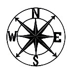 Chesapeake Bay Ltd. 24-Inch Round Compass Wall Plaque