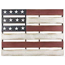 MCS Slatted American Flag 32-Inch x 24.5-Inch Wood Wall Art