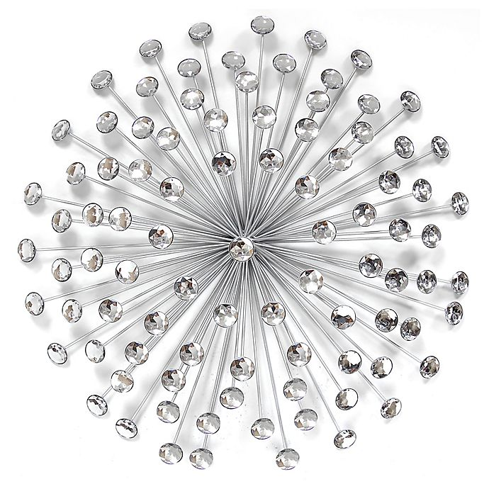 Alternate image 1 for Stratton Home Decor Acrylic Burst Wall Sculpture in Silver