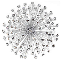 Stratton Home Decor Acrylic Burst Wall Sculpture in Silver