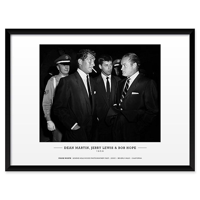 Alternate image 1 for Frank Worth's Dean Martin, Jerry Lewis, and Bob Hope 19-Inch x 25-Inch Wall Art