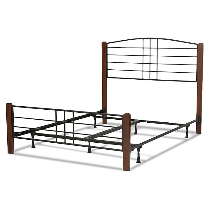 Alternate image 1 for Fashion Bed Group Dayton California King Wood/Metal Platform Bed in Spice/Black Grain Finish