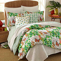 Nine Palms Butterfly Garden Comforter Set in Bright Green