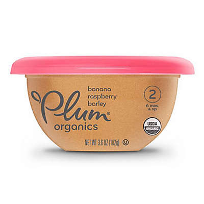 Plum Organics® 3.6 oz. Banana, Raspberry & Barley Baby Bowl