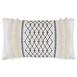 INK+IVY Imani Oblong Throw Pillow in Ivory