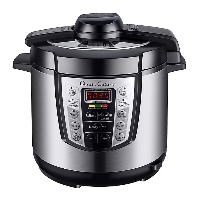Alternate image 1 for Classic Cuisine 6 qt. 4-in-1 Stainless Steel Pressure Cooker