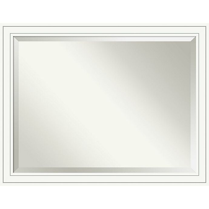 Alternate image 1 for Amanti Art Craftsman Large Wall Mirror in White