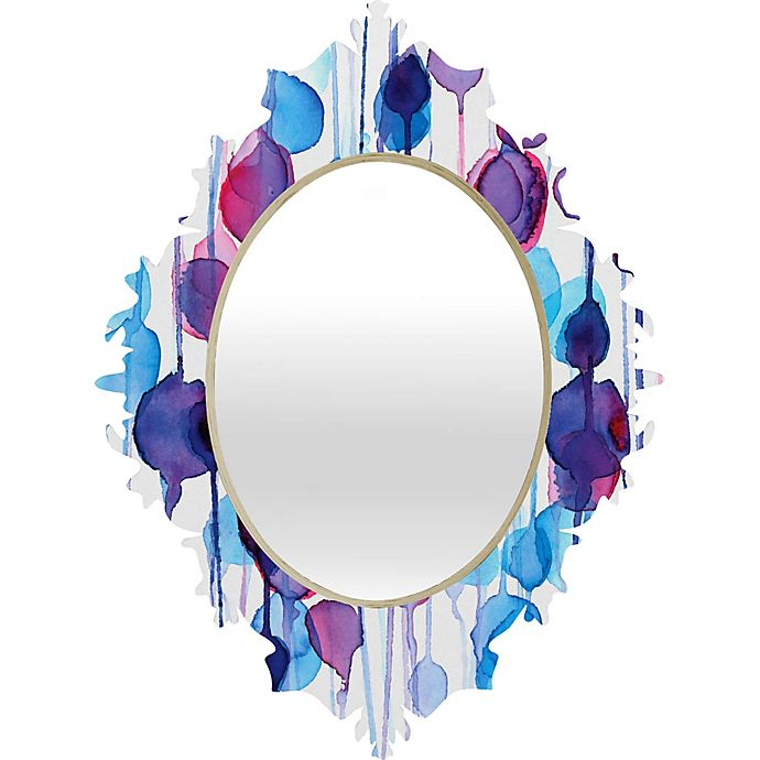 Alternate image 1 for Deny Designs Abstract Watercolor Baroque Wall Mirror