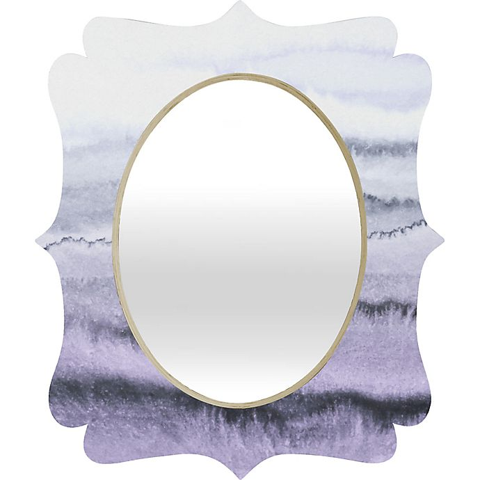 Alternate image 1 for Deny Designs Within the Tides Lilac Quatrefoil Medium Wall Mirror