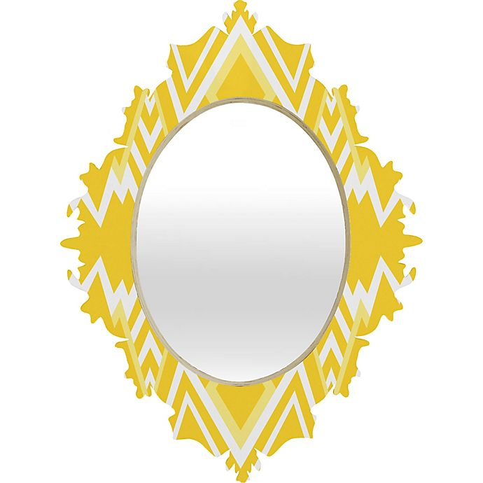 Alternate image 1 for Deny Designs Wic Valley Baroque Wall Mirror in Yellow