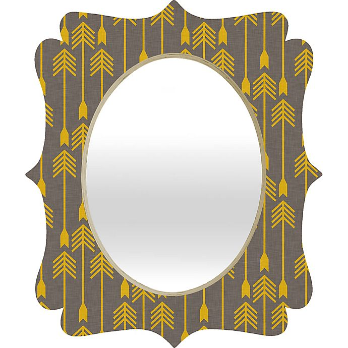 Alternate image 1 for Deny Designs Holli Zollinger Quatrefoil  Yellow Arrow Mirror
