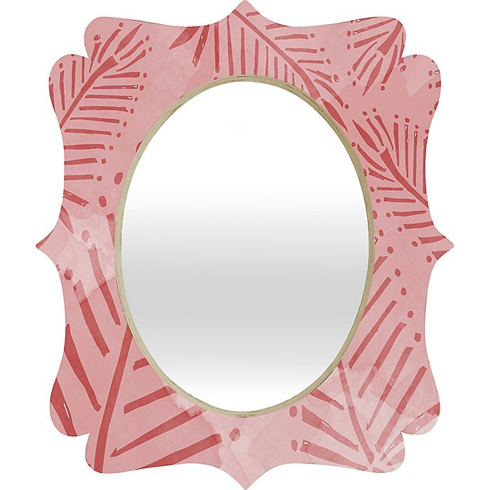 Alternate image 1 for Deny Designs Julia Da Rocha 29-Inch x 22-Inch Quatrefoil Watercolor Palms Mirror