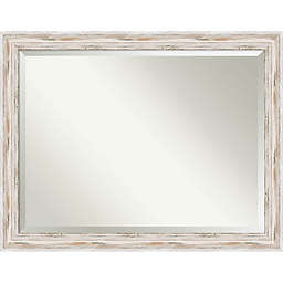 Amanti Alexandria 45-Inch x 35-Inch Over-the-Door/Wall Mirror in White Wash