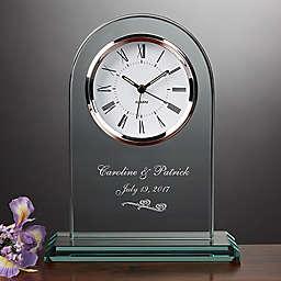Beloved Memories Engraved Wedding Table Clock