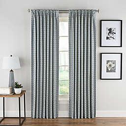 Boratta Geo Pinch Pleat Rod Pocket/Back Tab Window Curtain Panel