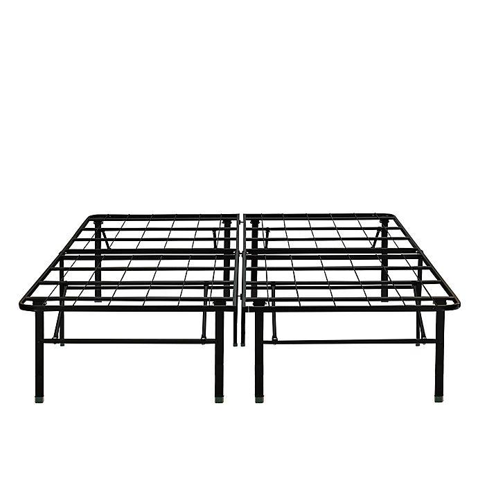 e rest 18 inch metal platform bed frame in black bed bath beyond. Black Bedroom Furniture Sets. Home Design Ideas