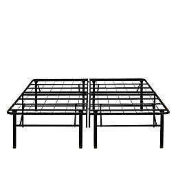 E-Rest 18-Inch Metal Platform Bed Frame in Black